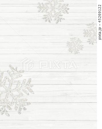 背景-白壁-クリスマス-飾り 45269122