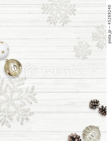 背景-白壁-クリスマス-飾り 45269240