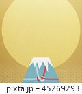 和-背景-富士山-日の出-和風-和柄-正月-年賀-水引 45269293