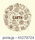 地球 ベクタ ベクターのイラスト 45270724