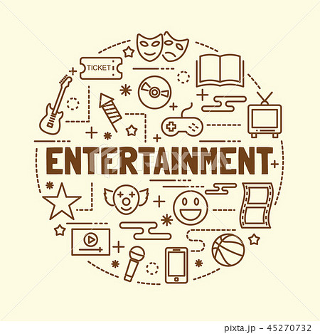 entertainment minimal thin line icons set 45270732