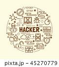 ハッカー アイコン ベクトルのイラスト 45270779