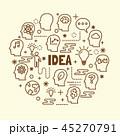 アイコン 発想 ベクタのイラスト 45270791