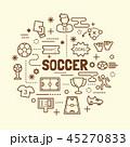 サッカー フットボール 蹴球のイラスト 45270833