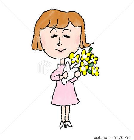 花束を持つ女性 45270956