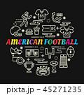 アメリカンフットボール サッカー フットボールのイラスト 45271235