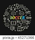 サッカー フットボール 蹴球のイラスト 45271366