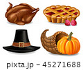 サンクスギビングデー 収穫感謝祭 感謝祭のイラスト 45271688