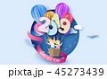 バルーン 風船 紙のイラスト 45273439
