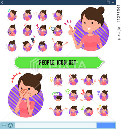 flat type Bun hair mom Sportswear_icon 45273545