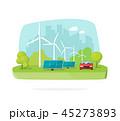 エネルギー ソーラー 太陽のイラスト 45273893