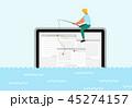 Web パソコン ページのイラスト 45274157