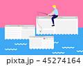 Web パソコン ページのイラスト 45274164