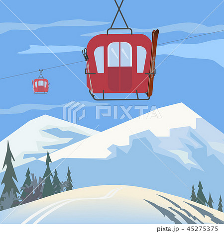 Mountain cabel car 45275375