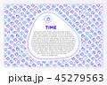アイコン 時間 時刻のイラスト 45279563