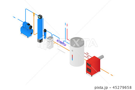 Isometry water filter system scheme 45279658