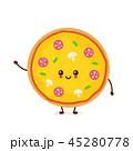 ピザ ピッツァ キャラクターのイラスト 45280778