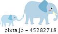 象の親子 45282718