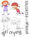 女の子 少女 ベクトルのイラスト 45283705