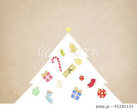 背景-クリスマス-ツリー-飾り 45292135