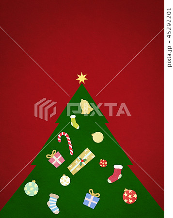 背景-クリスマス-ツリー-飾り-赤 45292201