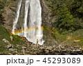 Hiker Enjoying the Scenic Waterfall with rainbow. 45293089