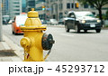 Fire hydrant in the background of a busy street in Toronto 45293712