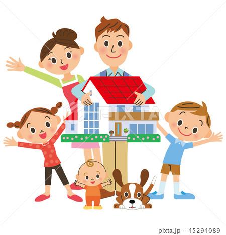 家を持つ家族 45294089