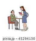 レストランで注文をする御夫人 45294130