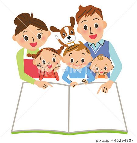本を読む家族 45294207