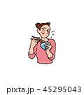 食べる 人物 女性のイラスト 45295043