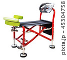 fishing chair with fishing devices isolated   45304758