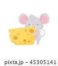 鼠 ねずみ マウスのイラスト 45305141