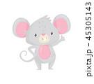 鼠 ねずみ マウスのイラスト 45305143