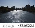 元安川 広島 河川 広島デルタ 灯籠流し 快晴 コピースペース 中国地方  45305228