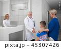 患者 病人 握手の写真 45307426
