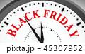 ブラックフライデー 掛け時計 時計のイラスト 45307952