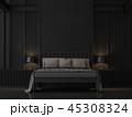 ベッドルーム 寝室 ベッドのイラスト 45308324