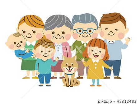 三世代の家族 集合 45312483