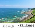 宮崎県 青空の日向灘と鬼の洗濯板 45313904
