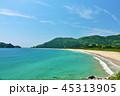 宮崎県 青空と美しい青い海 45313905