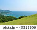 宮崎県 青空と青い海の岬 45313909