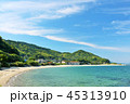 福岡県 青空と海辺の街 45313910