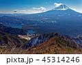 御坂山地・王岳山頂から見る富士山と西湖 45314246