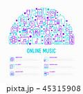 概念 オンライン モバイルのイラスト 45315908