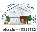 地震 家 住宅のイラスト 45316582