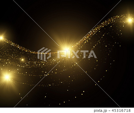 Golden glitter dust abstract background 45316718