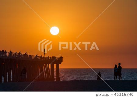 絶景California Hermosa Beach の夕日、Los Angeles ハモーサビーチ 45316740