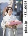 女性 着物姿 お中元の写真 45316956