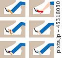 運転する時の適切と適切でない靴(日本) 45318030
